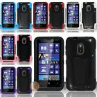 Silicone Hard Hybrid Rugged Shockproof Kickstand Case Cover For Nokia Lumia 620