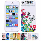 New Novelty Patterned Snap Hard Shell Skin Back Case Cover For Apple iPhone 5 5S