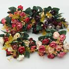 1 Bunch 21 Head Artificial Flower Small Peony Ranunculus Leaf Home Wedding Decor
