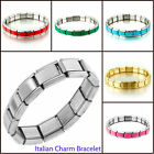 Pugster Hot Men's Stainless Steel 9mm Italian Charm Shiny Starter Cuff Bracelet
