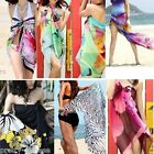Girls Ladies Sexy Chiffon Wrap Dress Beach Swimwear Bikini Large Scraf Skirt New