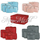 5Pcs Travel Luggage Storage Bag Clothes Organizer Case Suitcase Handbag Pouch O