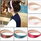 Fashion Wide Plastic Headband Women Girls Hair Band Accessory Satin Headwear