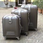 SET 3 VALIGIE TROLLEY RIGIDE IN ABS TROLLEY PICCOLO DA 20CM X VOLI LOW COST