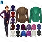 Womens Casual Peplum One Button Plain Spikes Ladies Frill Jacket Coat Blazer Top