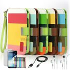 For Samsung Galaxy Note 2 II Class Hybrid Leather Stand Wallet Slot Case 6 Gifts