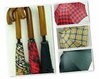 CLIFTON Umbrella - Men's Large Cover Tartan Manual Umbrella - Choose Design