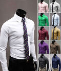 New Hot Luxury Men's Slim Fit Stylish Dress Shirts Casual Blouse Tops 11 Colors