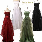 Luxury Satin Ball Prom Long Lace Sparkle Bridesmaid Wedding/Evening Gown Dress 0