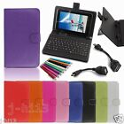 """Keyboard Case Cover+Gift For 7"""" 7-Inch Irulu MID Q88 A3 Android Tablet GB6"""