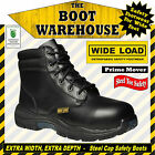 "Wide Load 'Prime Mover' Orthotic Lace Up, 6"" Work Boots. Steel Toe Cap Safety."