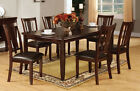 Dining Room Furniture Set Dining Table w/ 6 Chairs in Expresso Dining set