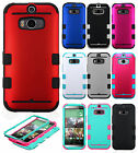 For HTC One M8 IMPACT TUFF HYBRID Protector Case Skin Phone Cover Accessory