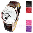 Girls Artistic Under the Umbrella Of Love Dial Quartz Wrist Watches Leather Band