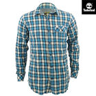 Brand New Timberland Long Sleeve Check Blue Shirt
