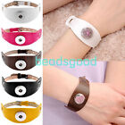 Leather Buckle Bracelet Bangle Fit Buttons Beads Poppers Snap Fastener DIY