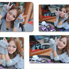 WOMEN'S HEMP PATTERN IMITATION RABBIT FUR HALF FINGER WOOL GLOVES HG-0128