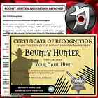 PERSONALISED BOUNTY HUNTER NOVELTY GIFT PACK + FREE GAME - PERFECT FOR BIRTHDAY