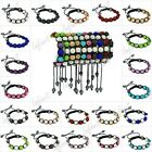 1pcs New Adjustable Friendship Bracelet 10mm Crystal Rhinestone Pave Disco Balls