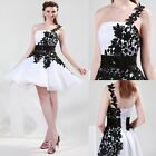 Hot Sale Sexy Leaf Style Bridesmaids Formal Prom Ball Evening Party Short Dress