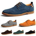 Hot Men's Fashion Lace Up Big Size Business Casual Shoes Genuine Suede Loafers