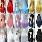 """9 Colors 31""""/80cm Heat Resistant Bang Long Straight Cosplay Anime Full Wigs 2014"""