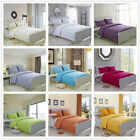 Solid Quilt Doona Covers Set New 100% Cotton King/Queen/Double Size Bed Linen