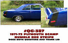 QG-387 1970-73 PLYMOUTH SCAMP - BUMBLE BEE STRIPE DECAL KIT