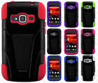 For ZTE Concord II 2 Z730 Advanced HYBRID KICK STAND Rubber Case Phone Cover