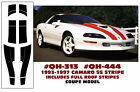 QH-313 QH-444 1993-97 CAMARO SS - COUPE STRIPES with FULL ROOF STRIPES