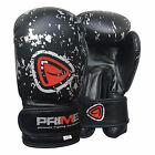 PRIME KIDS MACHINE MOULDED FOAM BOXING GLOVES FIGHT PUNCH REX LEATHER MMA - 1004
