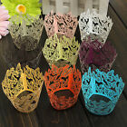 12X Butterfly Pattern Hollow Out Cake Paper Wraps Wedding Decor Cupcake Wrappers