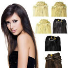 """15""""-28"""" 70g-120g Lush Real Remy Human Clip In On Full Head Hair Extensions"""