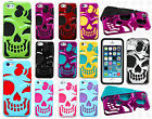 For iPhone 5 5S Girl Skull Hybrid Rubber Silicone Skin Case Phone Cover