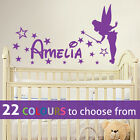 PERSONALISED TINKERBELL Pixie fairy name baby girl disney wall art sticker decal