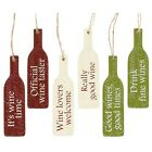 Novelty Mini Assorted Wooden Wine Lover Plaque Hanging Signs Ideal for Kitchen