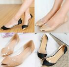 New Womens Glitter Sparkle Loafers Transparent Low Heel Pointed Toe Flat Shoes