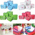 5pcs Packing Cube Pouch Suitcase Travel Clothes Storage Bags Luggage Organizer