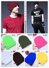 Unisex  Plain Beanie Warm  Solid Color Ski Cap Winter Knitting Wool Hat Cap