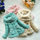 2014 Baby Girls Toddlers Kids Princess Faux Fur Fleece Lined Coat Jacket Clothes