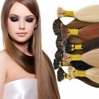 """100% Remy Real Human Hair Extensions 18""""20""""22""""100s 50g Pre Bonded Nail I Tip 50g"""