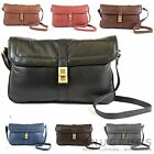 Ladies Soft Premium Leather Shoulder / cross Body Bag with Twist Clasp Lock