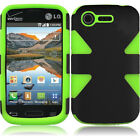 For Verizon LG Optimus Zone 2 VS415 IMPACT TUFF HYBRID Protector Case Cover