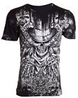 XTREME COUTURE by AFFLICTION Mens T-Shirt OFFERING Skulls BLACK Biker UFC $40 image