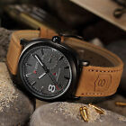 Vintage Retro Men's Leather Strap Sport Military Army Quartz Wrist Watch