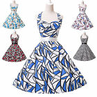 Sexy Retro Rockabilly Floral Swing 60s pinup Housewife Short Evening Party Dress