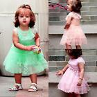 Kids Baby Girls Princess Tutu Pleated Dress Cotton One Piece Skirt Outfit 0-3Y