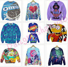 9 Styles Europe Fashion Men'sWomen 3D Pattern Autumn Jacket,T-shirt,Cartoons,Cat
