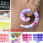 Pair Acrylic Spiral Snail Taper Ear Plugs Expander Stretcher Punk Gauge 2-12mm