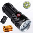 King Skyray Monster LED Flashlight Torch Light 6000-10000LM Batteries Charger